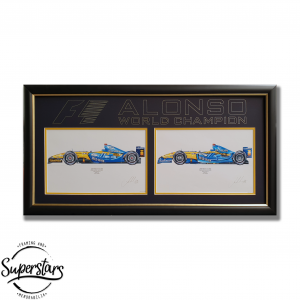 Fernando Alonso's Formula 1 cars for 2005 and 2006
