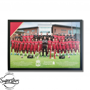 Poster of Liverpool Football Team custom framed by Superstars Framing and Memorabilia