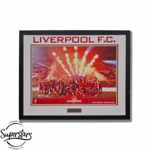 A poster of the moment Liverpool took out the 201920 EPL championship